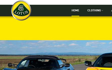 Lotus Cars Ecommerce Store